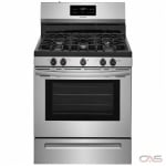Frigidaire FFGF3054TS Range, Gas Range, 30 Exterior Width, Self Clean, 5 Burners, Sealed Burners (Gas), Storage Drawer, 5.0 Capacity, 1 Ovens, Free Standing, 17K, Stainless Steel colour