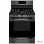 Frigidaire Gallery FGGF3036TD Range, Gas Range, 30 Exterior Width, Self Clean, Convection, 5 Burners, Sealed Burners (Gas), Storage Drawer, 5.0 cu. ft. Capacity, 1 Ovens, Free Standing, 17K BTU, Black Stainless Steel colour