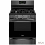 Frigidaire Gallery FGGF3059TD Range, Gas Range, 30 Exterior Width, Self Clean, Convection, 5 Burners, Sealed Burners (Gas), Storage Drawer, 5.0 cu. ft. Capacity, 1 Ovens, Free Standing, 18K BTU, Black Steel colour