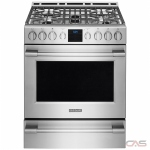 Frigidaire Professional FPGH3077RF Range, Gas Range, 30 Exterior Width, Self Clean, Convection, 5 Burners, Sealed Burners (Gas), Storage Drawer, 5.1 cu. ft. Capacity, 1 Ovens, Slide In, 18K BTU, Stainless Steel colour