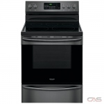 Frigidaire Gallery CGEF3059TD Range, Electric Range, 30 Exterior Width, Self Clean, Convection, 5 Burners, Glass Burners (Electric), Storage Drawer, 5.7 cu. ft. Capacity, 1 Ovens, Free Standing, 3000W, Black Stainless Steel colour