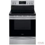 Frigidaire Gallery CGEF3059TF Range, Electric Range, 30 Exterior Width, Self Clean, Convection, 5 Burners, Glass Burners (Electric), Storage Drawer, 5.7 cu. ft. Capacity, 1 Ovens, Free Standing, 3000W, Stainless Steel colour