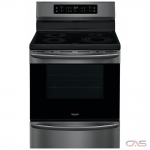 Frigidaire Gallery CGIF3036TD Range, Electric Range, 30 Exterior Width, Self Clean, Convection, 4 Burners, Induction Elements, Storage Drawer, 5.7 cu. ft. Capacity, 1 Ovens, Free Standing, 3600W, Black Stainless Steel colour