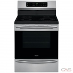 Frigidaire Gallery CGIF3036TF Range, Electric Range, 30 Exterior Width, Self Clean, Convection, 4 Burners, Induction Elements, Storage Drawer, 5.7 cu. ft. Capacity, 1 Ovens, Free Standing, 3600W, Stainless Steel colour
