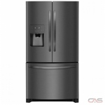 Frigidaire FFHB2750TD, 36 Width, Thru Door Ice Dispenser, Energy Efficient, 27.2 Capacity, Exterior Water Dispenser, LED Lighting, Black Stainless Steel colour