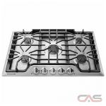 Frigidaire Gallery FGGC3047QS Cooktop, Gas Cooktop, 30 inch, 5 Burners, Stainless Steel colour