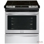Frigidaire Gallery CGIS3065PF Range, Electric Range, 30'' Exterior Width, Self Clean, Convection, 4 Burners, Induction Elements, Storage Drawer, 4.6 cubic ft, 1 Ovens, Slide In, 3800W