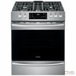 Frigidaire FGGH3047VF Range, Gas Range, 30 Exterior Width, Self Clean, Convection, 5 Burners, Open Burners (Gas), Storage Drawer, 5.6 cu. ft. Capacity, 1 Ovens, Free Standing, 18K BTU, Stainless Steel colour AirFry Range