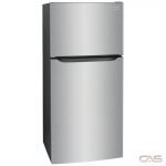 Frigidaire FFTR2045VS Top Mount Refrigerator, 30 Width, 19.6 Capacity, LED Lighting, Stainless Steel colour