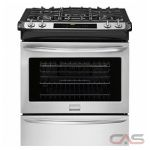 Frigidaire Gallery FGGS3065PF Range, Gas Range, 30 inch, Self Clean, Convection, 4 Burners, Sealed Burners (Gas), Warming Drawer, 5.8 cubic ft, 1 Ovens, Slide In, Stainless Steel colour