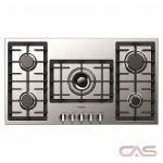 Fulgor Milano F4GK36S1, Gas Cooktop, 36 inch, 5 Burners, Stainless Steel, 18K, Stainless Steel colour