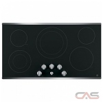 GE JP3536SJSS Cooktop, Electric Cooktop, 36 inch, 5 Burners, 2700W, Stainless Steel colour