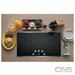 GE Profile PP7036SJSS Cooktop, Electric Cooktop, 36 inch, 5 Burners, Glass Ceramic, 3000W, Stainless Steel colour