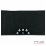 GE Profile PP7036SJSS Cooktop, Electric Cooktop, 36 inch, 5 Burners, 3000W, Stainless Steel colour