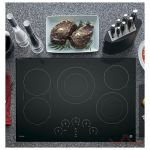 GE Profile PP9030DJBB Cooktop, Electric Cooktop, 30 inch, 5 Burners, Black colour
