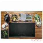 GE Profile PP9036SJSS Cooktop, Electric Cooktop, 36 inch, 5 Burners, Glass Ceramic, 3000W, Stainless Steel colour