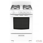 GE JCGAS300DMWW Range, Gas Range, 24 Exterior Width, 4 Burners, Sealed Burners (Gas), Storage Drawer, 2.9 Capacity, 1 Ovens, Free Standing, 12K, White colour