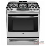 GE Profile PC2S920SEFSS Range, Dual Fuel Range, 30 inch, Self Clean, Convection, 5 Burners, Sealed Burners (Gas), Warming Drawer, 5.4 cubic ft, Slide In, Stainless Steel colour
