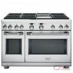 Monogram ZGP486NDRSS Range, Gas Range, 48 inch, Self Clean, Convection, 6 Burners, Sealed Burners (Gas), 8.9 cubic ft, Free Standing, Stainless Steel colour