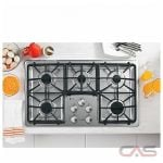 GE Profile PGP966SETSS Cooktop, Gas Cooktop, 36 inch, 5 Burners, Porcelain Enamel, Stainless Steel colour