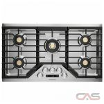 Monogram ZGU36ESLSS Cooktop, Gas Cooktop, 36 inch, 5 Burners, Stainless Steel, 20K, Stainless Steel colour