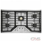 Monogram ZGU36RSLSS Cooktop, Gas Cooktop, 36 inch, 5 Burners, Stainless Steel, 20K, Stainless Steel colour