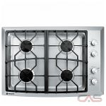 Monogram ZGU384NSMSS Cooktop, Gas Cooktop, 30 inch, 4 Burners, Stainless Steel, Stainless Steel colour