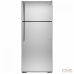 GE GTS18FSLKSS Top Mount Refrigerator, 30 Width, 18.0 Capacity, LED Lighting, Stainless Steel colour