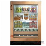 "GE Monogram ZDBI240HII 24"" Undercounter Beverage Center with 10-Wine Bottle Capacity, 12-Can Capacity, 3 Spillproof Glass Shelves, 2 Wine Racks and ADA Compliant: Custom Panel"