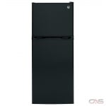 GE GPE12FGKBB Top Mount Refrigerator, 24 Width, 11.6 cu. ft. Capacity, LED Lighting, ENERGY STAR Certified, Black colour