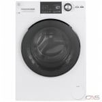 "GE GFW148SSMWW Front Load Washer, 24"" Width, 2.4 cu. ft. Capacity, 14 Wash Cycles, 5 Temperature Settings, Stackable, Water Heater, 1400 RPM RPM, Steam Clean, ENERGY STAR Certified, White colour"