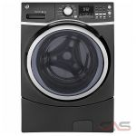 "GE GFW450SPMDG Front Load Washer, 27"" Width, 5.2 cu. ft. Capacity, 10 Wash Cycles, 5 Temperature Settings, Stackable, Water Heater, 1300 RPM Washer Spin Speed, ENERGY STAR Certified, Diamond Gray colour"