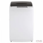 GE GNW128PSMWW Portable Washer, 24 Width, 2.8 Capacity, 8 Wash Cycles, 4 Temperature Settings, 750 Washer Spin Speed, White colour