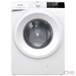 "Gorenje WEI843HP Front Load Washer, 24"" Width, 16 Wash Cycles, Stackable, 1400 RPM Washer Spin Speed, White colour"
