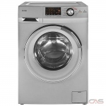 "Haier HLC1700AXS Washer Dryer Combination, 24"" Width, 2.0 cu. ft. Capacity, 9 Wash Cycles, 5 Temperature Settings, 1200 RPM Washer Spin Speed, Silver colour All In One Washer and Non-Vented Condensing Drying"