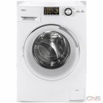 "Haier HLC1700AXW Washer Dryer Combination, 24"" Width, 2.0 cu. ft. Capacity, 9 Wash Cycles, 5 Temperature Settings, 1200 RPM Washer Spin Speed, White colour All In One Washer And Non-Vented Condensing Drying"
