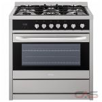 Haier HCR6250AGS Range, Gas Range, 36'' Exterior Width, Convection, 5 Burners, Sealed Burners (Gas), 3.8 cubic ft, 1 Ovens, Free Standing, 17.4K