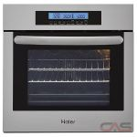 Haier HCW2360AES Single Wall Oven, 24 Exterior Width, Self Clean, Convection, 2.0 Capacity, Stainless Steel colour