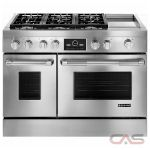 Jenn-Air Pro Style JDRP548WP Range, Dual Fuel Range, 48 inch, Self Clean, Convection, 6 Burners, Sealed Burners (Gas), 6.3 cubic ft, Free Standing, Stainless Steel colour