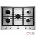 Jenn-Air JGC1530BS Cooktop, Gas Cooktop, 30 inch, 5 Burners, Stainless Steel colour