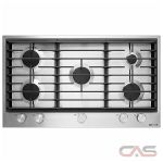 Jenn-Air JGC1536BS Cooktop, Gas Cooktop, 36 inch, 5 Burners, Porcelain, Stainless Steel colour