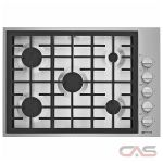 Jenn-Air JGC7530BP Cooktop, Gas Cooktop, 30 inch, 5 Burners, Stainless Steel, Stainless Steel colour