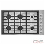 Jenn-Air JGC7636BP Cooktop, Gas Cooktop, 36 inch, 6 Burners, Stainless Steel, Stainless Steel colour