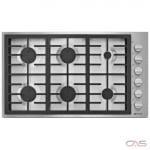 Jenn-Air Pro Style JGC7636BP Cooktop, Gas Cooktop, 36 inch, 6 Burners, 18K BTU, Stainless Steel colour