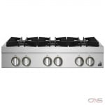 Jenn-Air Rise JGCP436HL Rangetop, Gas Cooktop, 36 inch, 6 Burners, 20K BTU, Stainless Steel colour