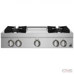 Jenn-Air Rise JGCP536HL Rangetop, Gas Cooktop, 36 inch, 5 Burners, 20K BTU, Stainless Steel colour
