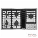 Jenn-Air Euro Style JGD3536GS Cooktop, Gas Cooktop, 36 inch, 5 Burners, Stainless Steel, 17K, Stainless Steel colour