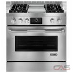 Jenn-Air JGRP536WP Range, Gas Range, 36 inch, Self Clean, Convection, 4 Burners, Sealed Burners (Gas), 4.5 cubic ft, Free Standing, Stainless Steel colour