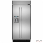 Jenn-Air Pro Style JS42PPDUDE Built In Refrigerator, 42 Width, Thru Door Ice Dispenser, Energy Efficient, 16.41 Capacity, Counter Depth, Exterior Water Dispenser, LED Lighting, Stainless Steel colour
