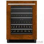 Jenn-Air JUW24FLECX Under Counter Wine Refrigeration, 23 7/8 Width, Built In, Custom Panel Ready, 37-48 Wine Bottle Capacity, Panel Ready